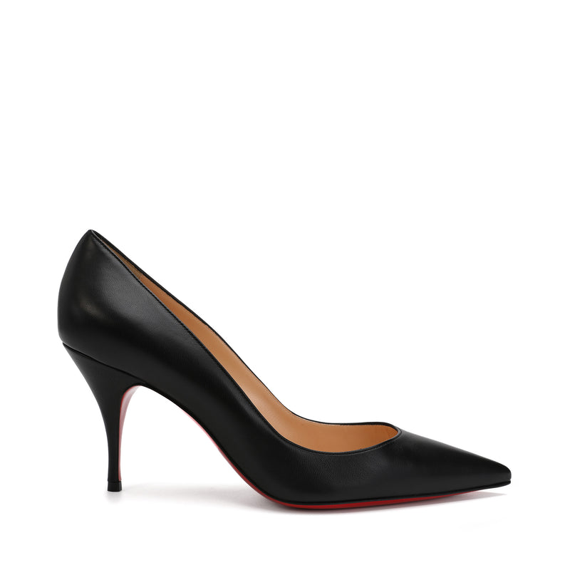Clare 80 Black Leather Pumps