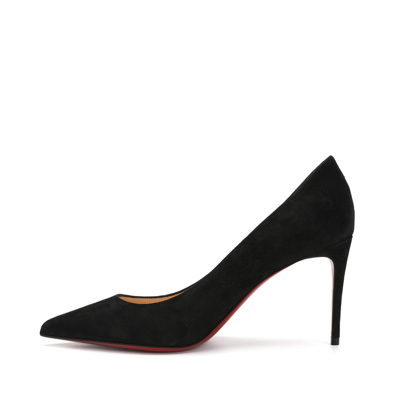 Christian Louboutin - Kate 85 Black Suede Leather Pumps