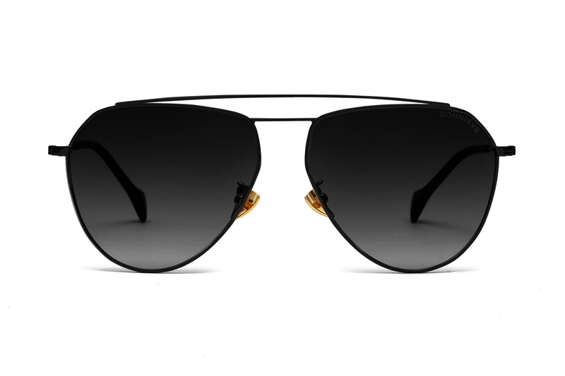 DONNIEYE - DIVINE Black Aviator Sunglasses