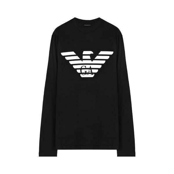 Logo print long-sleeved T-shirt