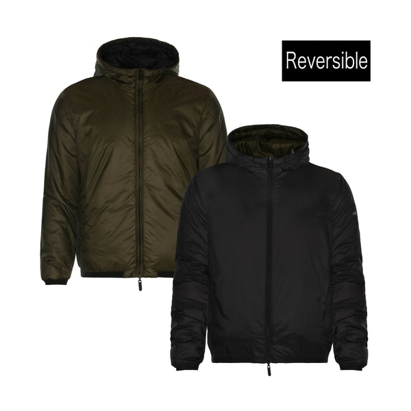 Emporio Armani Eagle Graphic-print Reversible Padded Jacket