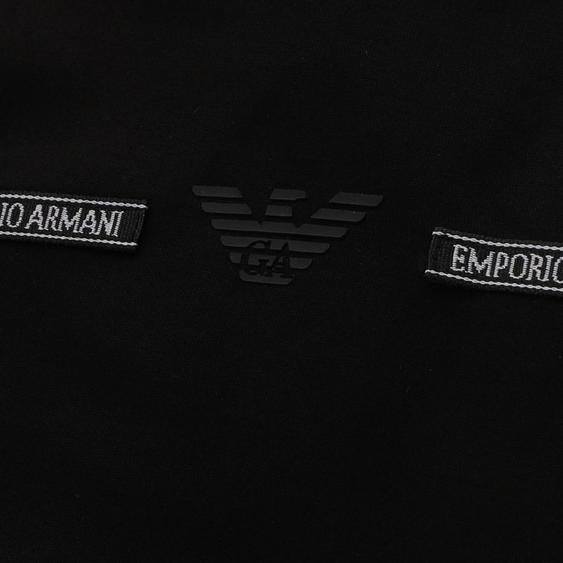 Emporio Armani Logo piping striped T-shirt