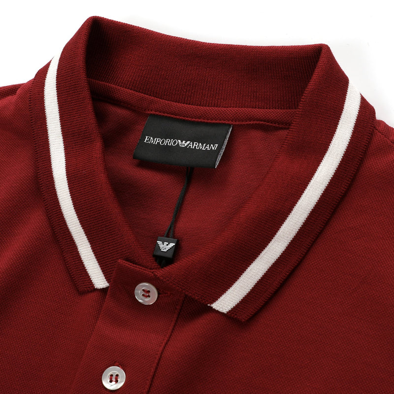 Emporio Armani Embroidered Eagle Logo Polo Shirt