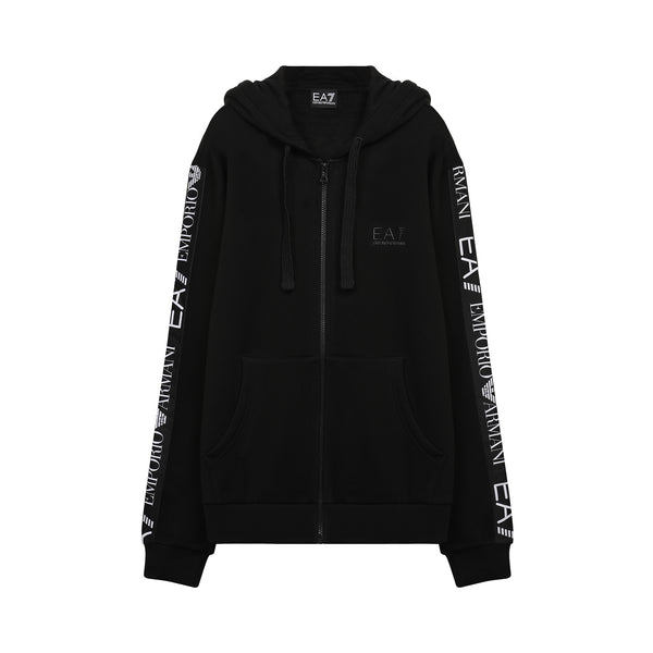Logo Tape Zip up Hoodie