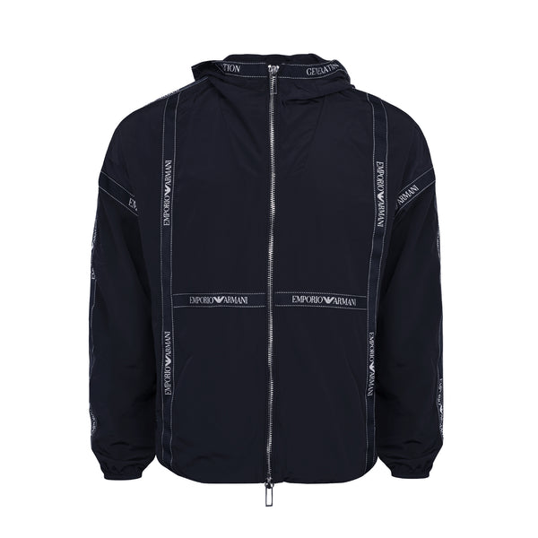 Stripe Logo hooded Jacket
