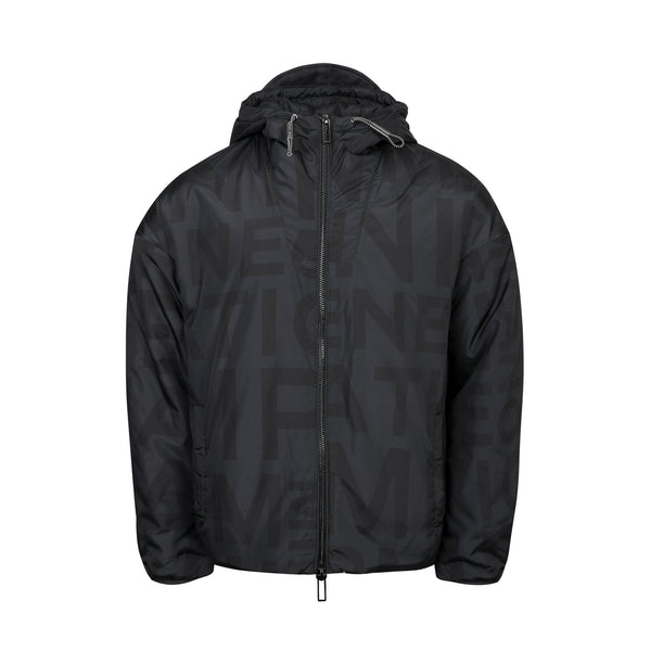 Emporio Armani - All-over Logo Hooded Jacket