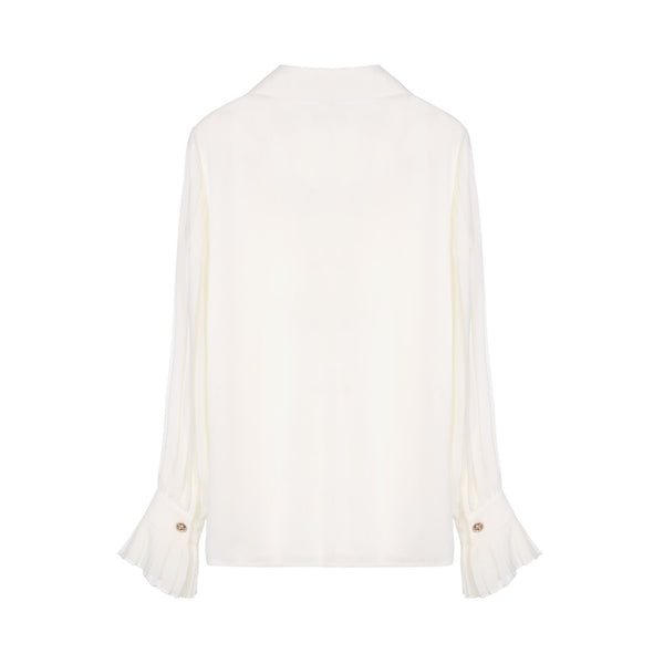 Edward Achour Drape Detail Blouse