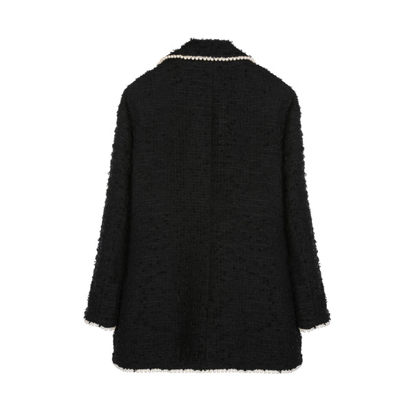 Edward Achour Black Pearl Tweed Jacket