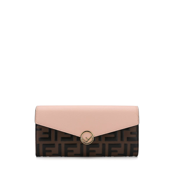 Fendi Color-block FF Continental Wallet