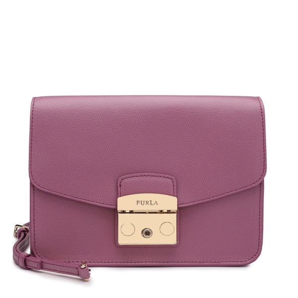 Furla Metropolis Crossbody Bag S in Textured Leather