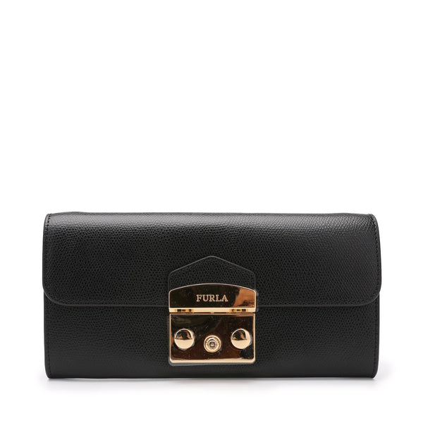 Furla Metropolis Chain Wallet in Textured Leather