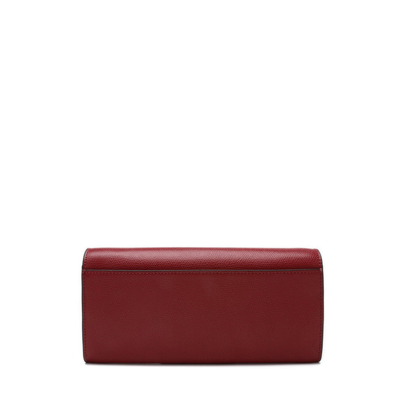 Metropolis Chain Wallet in Textured Leather
