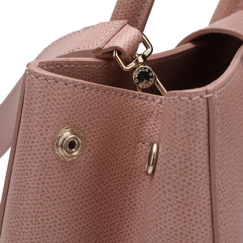 Metropolis Tote S in Textured Leather