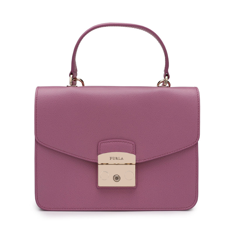 Furla Metropolis Top Handle Bag S in Textured Leather