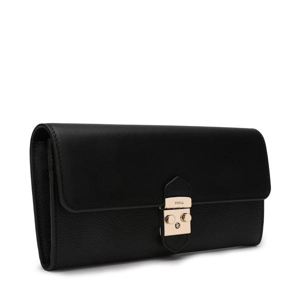 Furla Metropolis Bi-Fold L in Grainy Leather and Smooth Leather