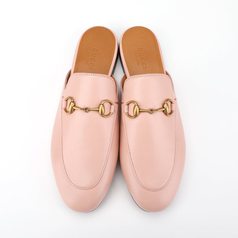 Gucci Princetown Horsebit Leather Mules