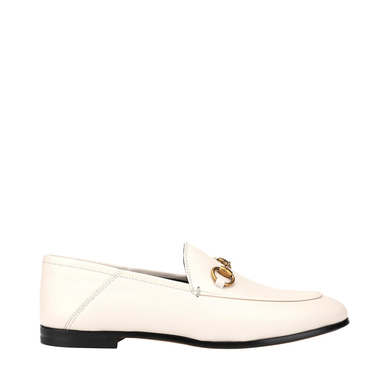 Gucci Babouche Counter Horsebit Leather Loafers