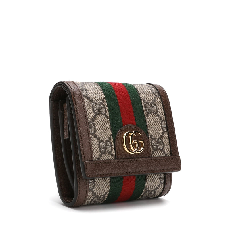 Gucci Ophidia GG French Flap Wallet