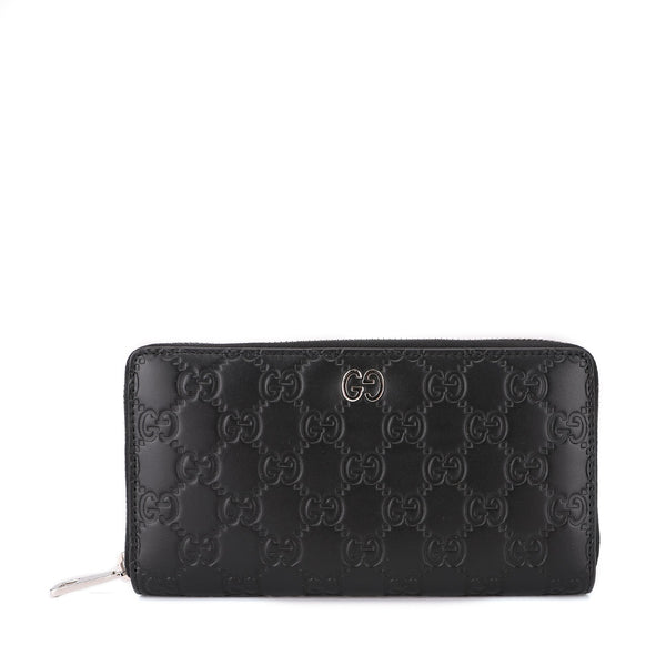 Gucci Signature Zip Around Wallet