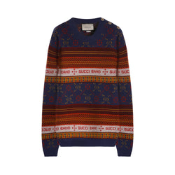 Gucci Jacquard Wool Knitted Jumper