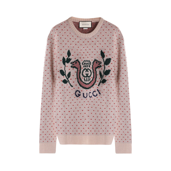 Gucci Wool Alpaca Sweater with Lyre Snake