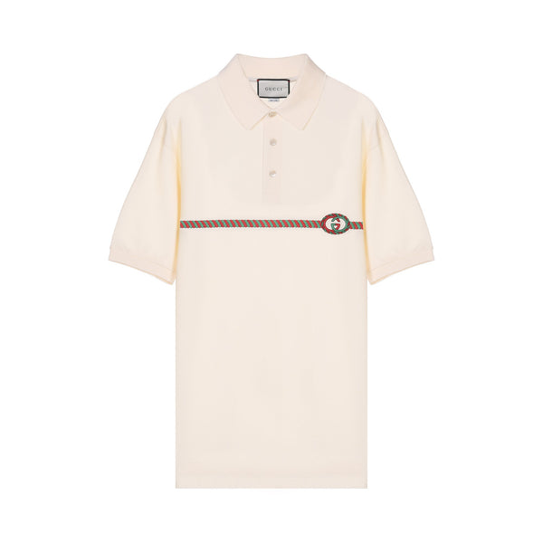 Gucci Monogram Embroidered Polo Shirt