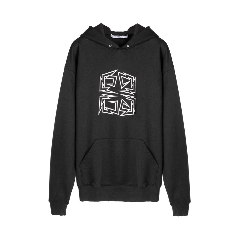 Givenchy 4G Lightning Bolt Print L/S Hooded Sweatshirt