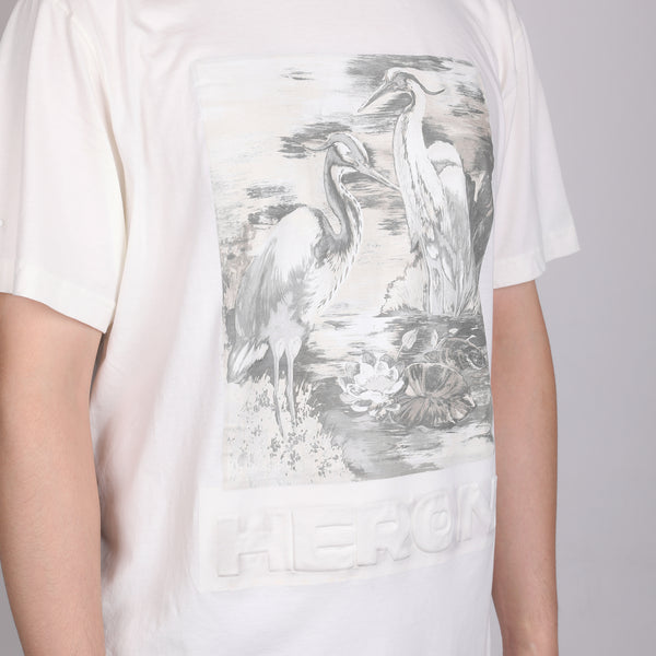 [LOWEST PRICE] - White Bird Printed T-shirt