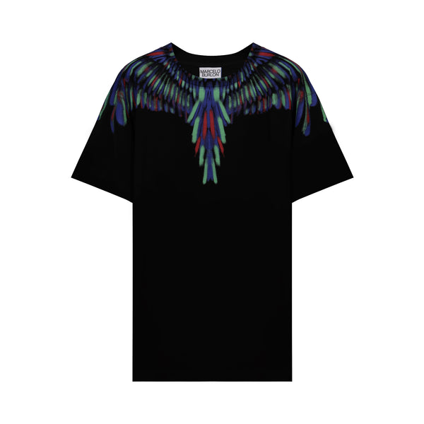 Black & Multicolor Chalk Wings T-shirt