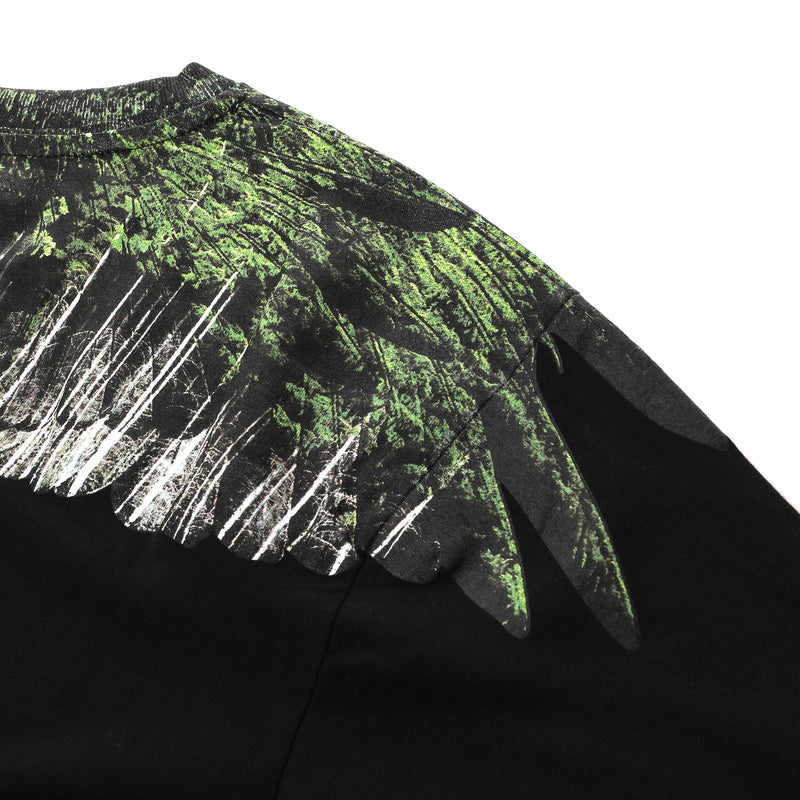 Marcelo Burlon - Green Wood Wings Printed T-shirt