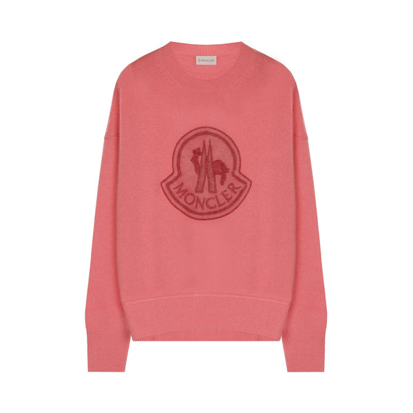 Moncler Pullover with Logo Patch