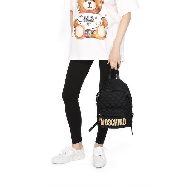 Moschino Medium Quilted Backpack