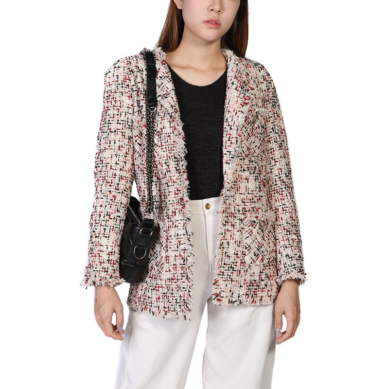Embroidered Fitted Blazer