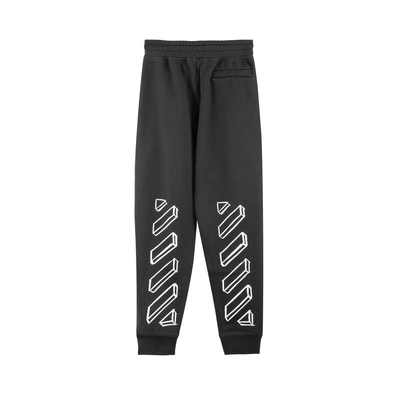 Off-White Diagonal Stripes Print Sweatpants