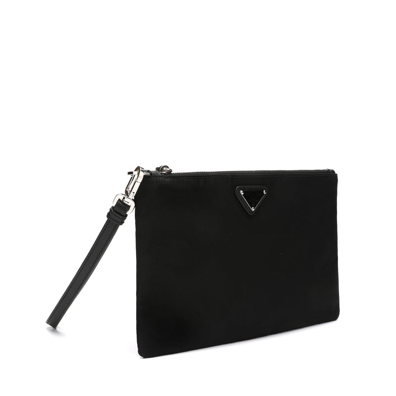 Prada Logo Plaque Medium Pouch