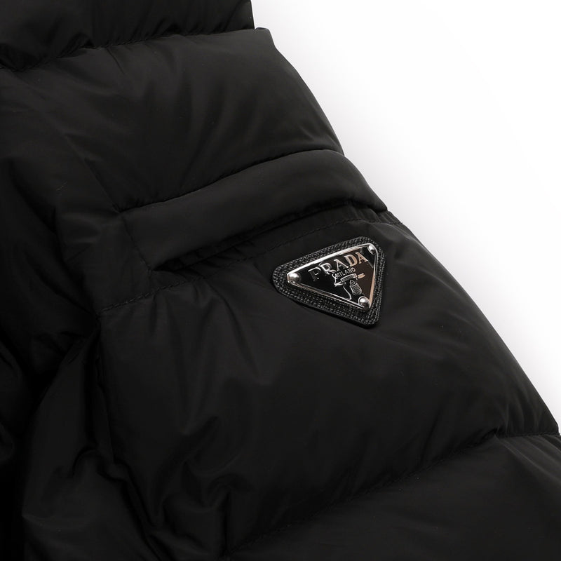 Prada Feather Nylon Puffer Jacket