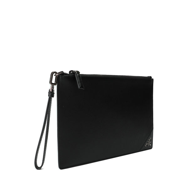 Prada Logo Plaque Clutch