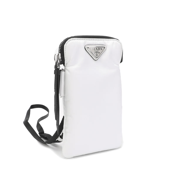 Prada - Logo Plaque Phone Pouch