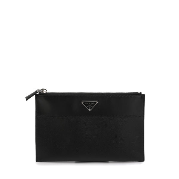 Prada - Triangle Logo Plaque Pouch