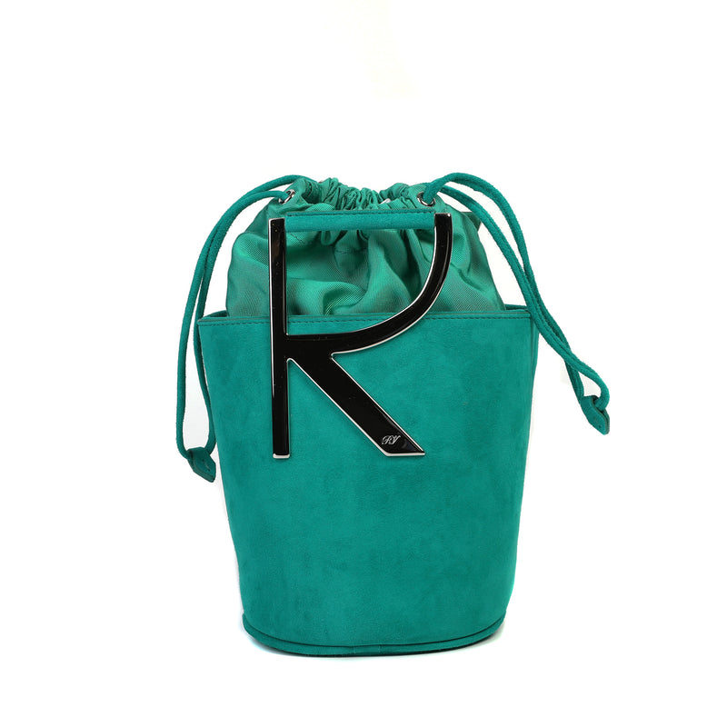 RV Suede Mini Bucket Bag
