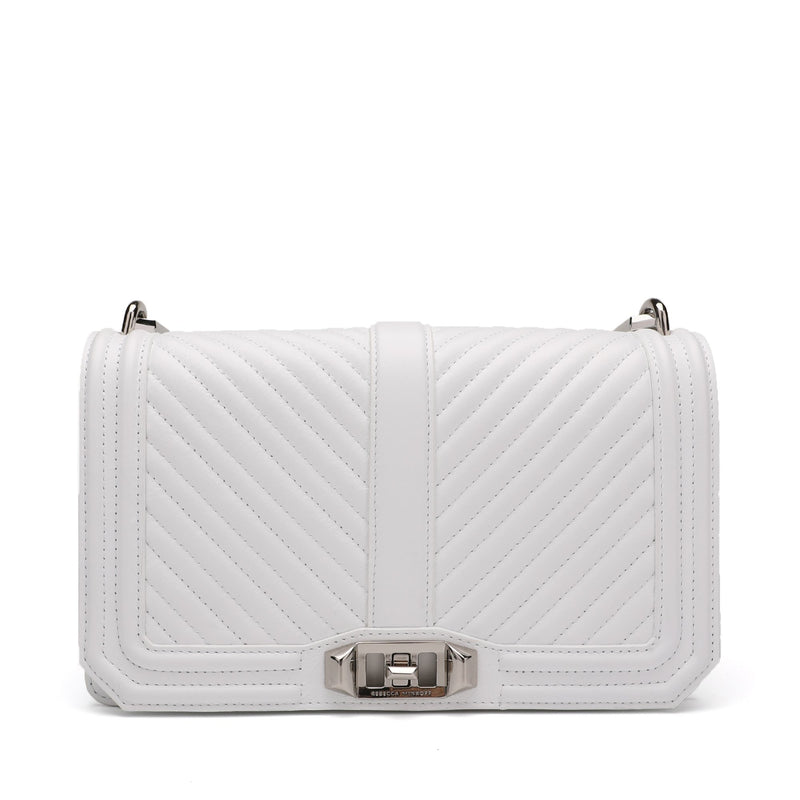 Rebecca Minkoff Chevron Quilted Love Crossbody