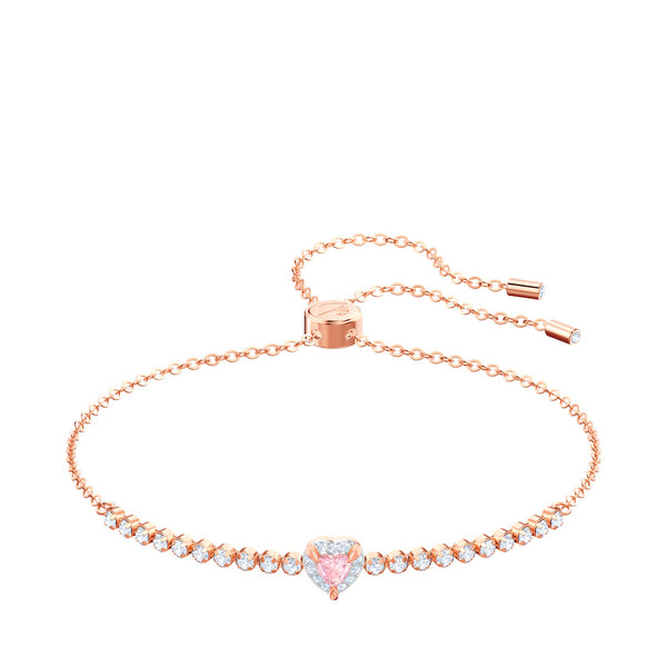 Swarovski - Rose-gold tone plated One Bracelet