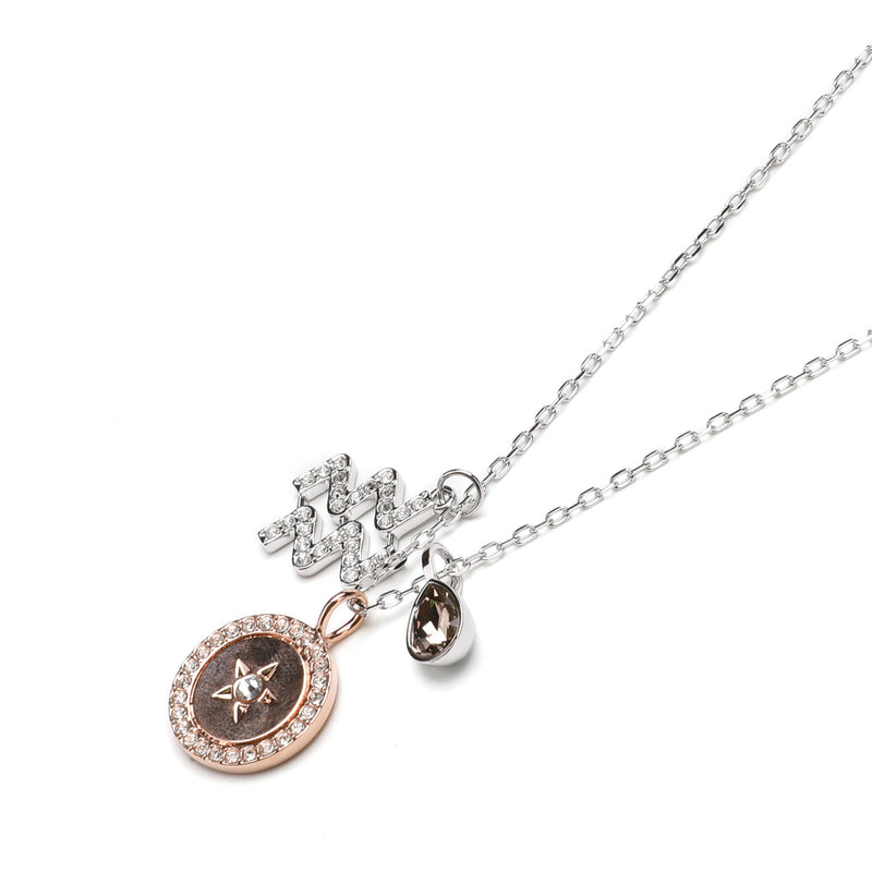 Swarovski Aquarius Zodiac Pendant Necklace