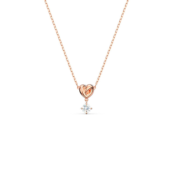 Swarovski - Rose-gold tone plated LifeLong Heart Pendant