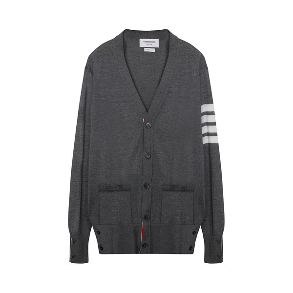 Thom Browne - 4-Bar Knitted Cardigan