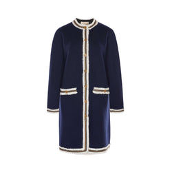 Tory Burch Kendra Fringed Sweated Coat