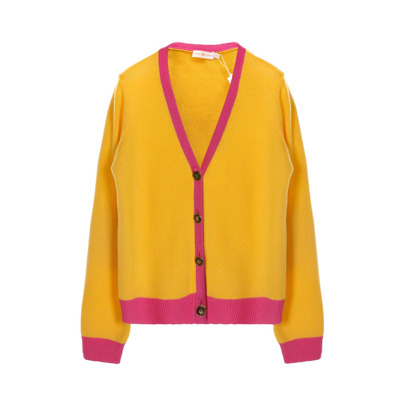 Tory Burch Color Block Cashmere Cardigan
