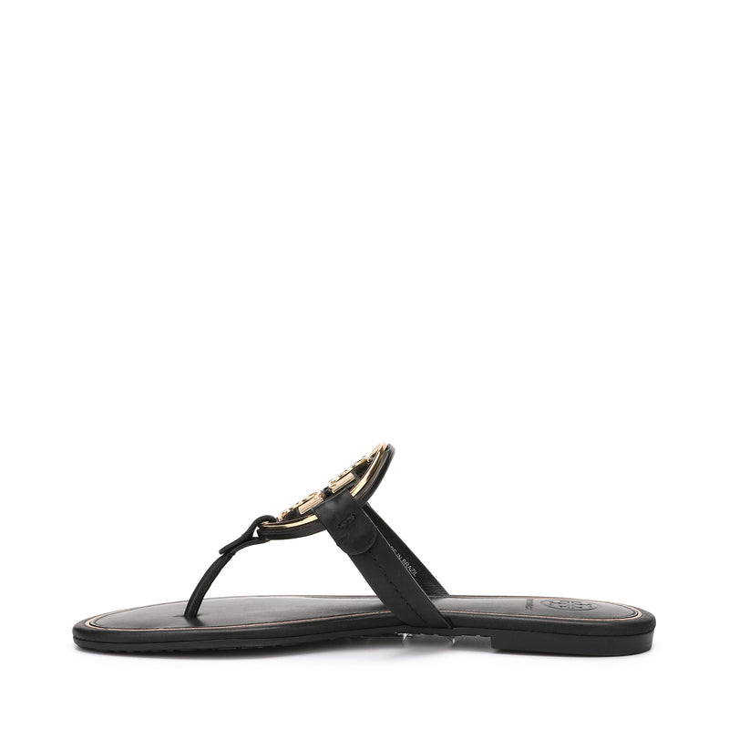 Miller Metal-logo Leather Sandal