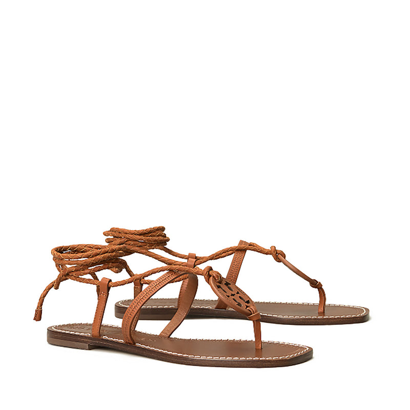 Tory Burch - Miller Braided Ankle-Wrap Sandal