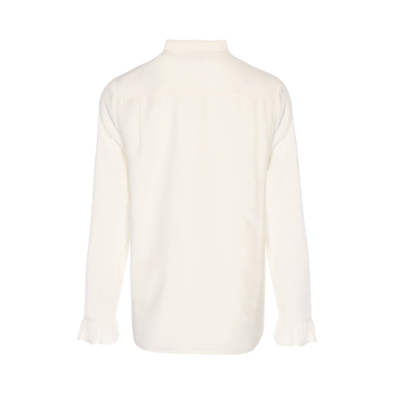 Tory Burch Ivory Silk Blouse